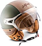 "Soxon® SP-325 Urban ""Green"" · Jet-Helm · Motorrad-Helm Roller-Helm Scooter-Helm Moped..."
