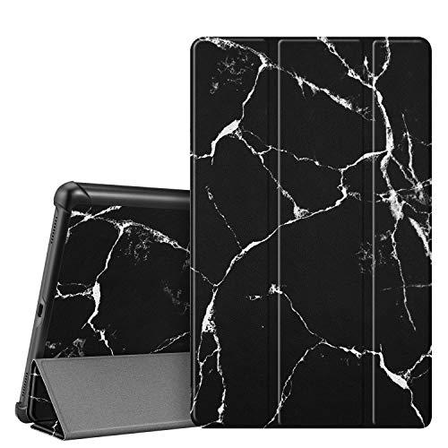 Fintie Hülle für Samsung Galaxy Tab A 10.1 T510/T515 2019 - Ultra Schlank Superleicht Kunstleder Schutzhülle Cover Case mit Standfunktion für Samsung Galaxy Tab A 10.1 Zoll 2019 Tablet, Marmor Schwarz