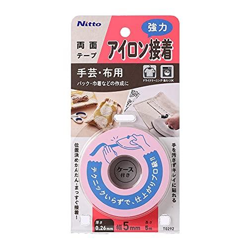 ニトムズ アイロン接着テープ 強力タイプ ミシン・針を使わずカンタン裁縫 5mm×5M T0292 透明