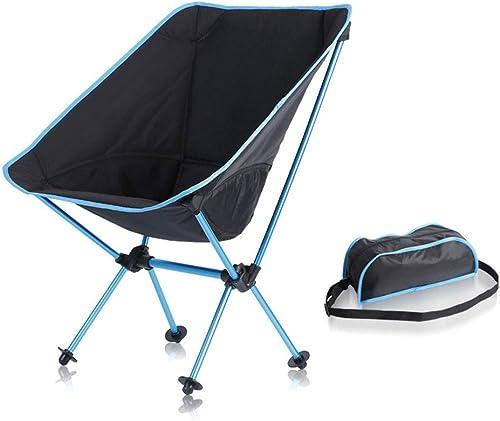 Yamyannie Camping Portable Chaises Chaises en Alliage d'aluminium Ultra léger Chaise Pliante Chaise Courte de Lune Dossier en Plein air Chaise en Tissu Oxford