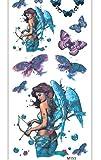 Tome La Flecha Ángel Azul Tatuajes Temporales Etiqueta Para Adultos Hombres Mujeres Niños Impermeable Falso Body Art Cover Up Set Anchor Graphic 19x9cm 10pcs