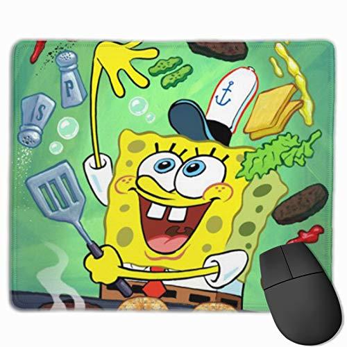 GCNqat Mouse Pad Spongebob Makes a Burger Multifunctional Comfortable Non-Slip Mouse Pad Cute Laptop Office Desk Accessories 9.8x11.8inch
