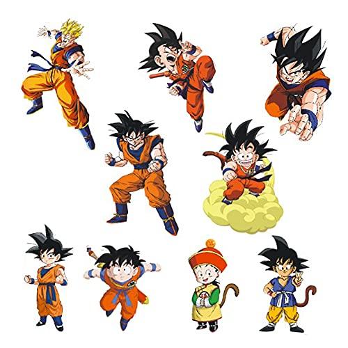 Pegatinas de pared Dragon Ball,Adhesivo decorativo para pared de Super Saiyan Goku de Dragon Ball Z etiqueta para la decoración de la habitación de los niños