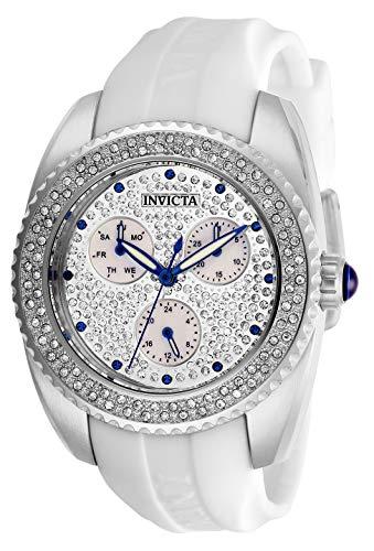 Invicta 28482 Angel Reloj para Mujer acero inoxidable Cuarzo Esfera plata