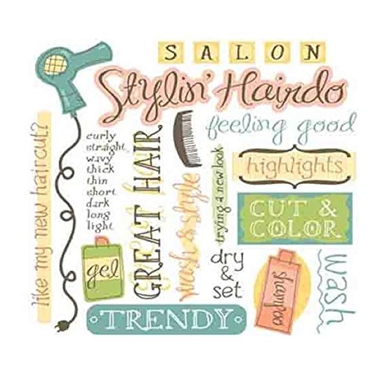 KAREN FOSTER Design Scrapbooking Rub-On, Hair Style zhfpgupa208411