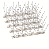 SEEKSEE 10 Pack Bird Spikes –13 inch Anti-Bird Nails Bird Repellent Metal Bird Deterant Spinners of Stainless Steel Bird Spikes for Pigeon and Other Small Birds10 Ft