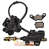 Rear Brake Master Cylinder Caliper Assembly Replacement for for 50cc 70cc 90cc 110cc 125cc Chinese ATV Quad Taotao Boulder B1 Coolster 3050HD