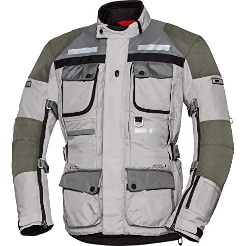 IXS Tour Lt Jacket Montevideo-Air 2 Light Grey-Dark Grey Xl