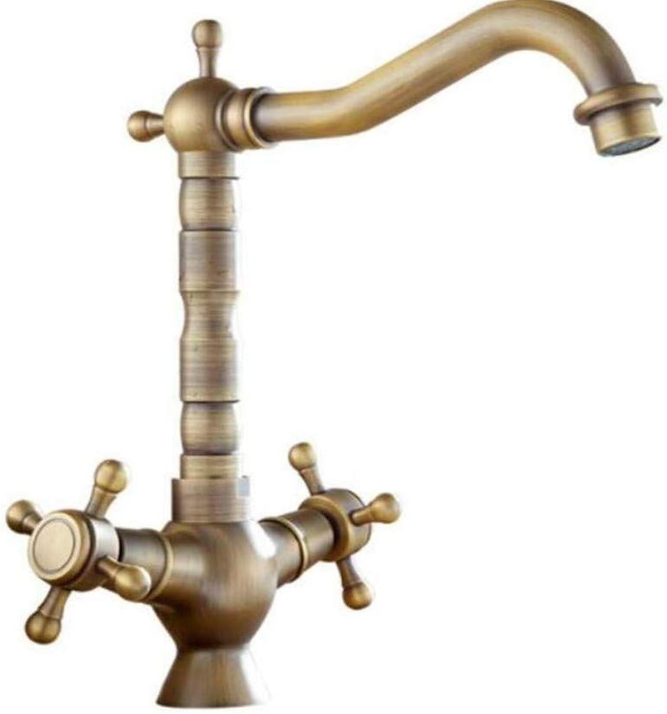 Taps Kitchen Sinktaps Mixer Swivel Faucet Sink Antique Faucet European Retro Faucet Double Handle