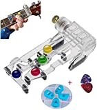 Guitar Beginner One-Key Chord Assisted Learning Tools,Guitar Learning System, Classical Chord Guitar Practice Aid Tool for Adults & children Trainer Beginner, (with 4 Finger Protectors+2 Picks)