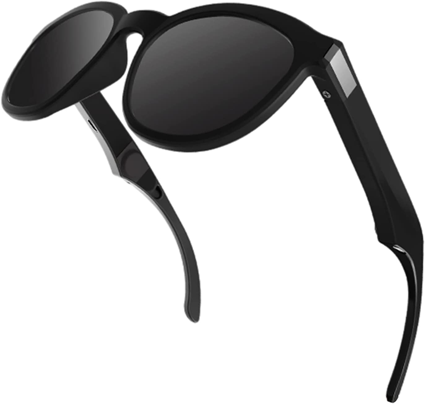 YIJU G4 Bone Conduction Smart Glasses Wireless Bluetooth Sports Headphones for Cycling Driving Calling Music - Black