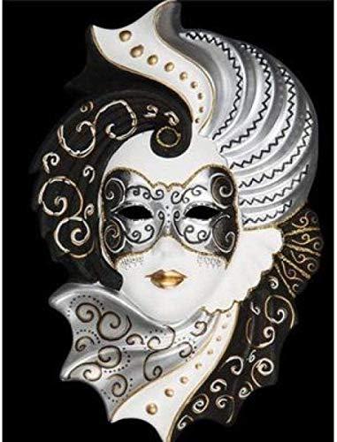 LSDEERE Kits de Pintura por números para Adultos y niños, Pintura al óleo DIY, máscara Veneciana Digital, Lienzo, Arte de Pared, decoración del hogar, 16X20 Pulgadas