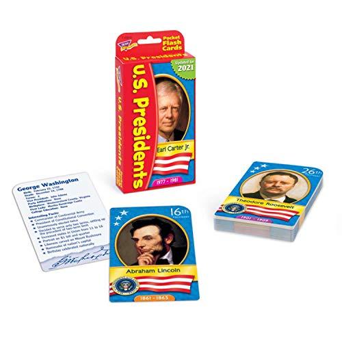 US Presidents Pocket Flash Cards by Trend Enterprises Inc