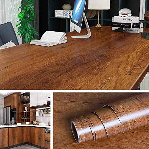 Livelynine - Papel de contacto para muebles (197 x 36 pulgadas, papel autoadhesivo, para encimeras de mesa, escritorio, madera, papel pintado, papel pintado, extraíble, impermeable, grande