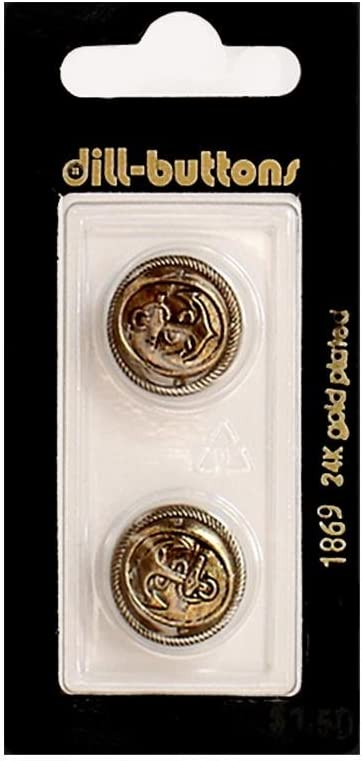 Dill Shank Buttons 11 Max 56% OFF 16 2pc. #1869 in. Antique Max 90% OFF Gold