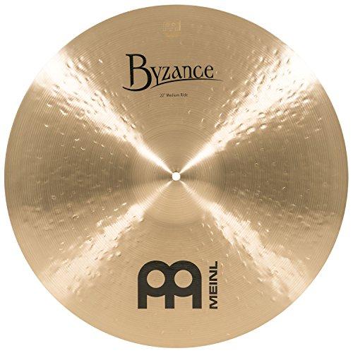 "Meinl Cymbals Byzance 22"" Traditional Medium Ride — MADE IN TURKEY — Hand Hammered B20 Bronze, 2-YEAR WARRANTY, B22MR"
