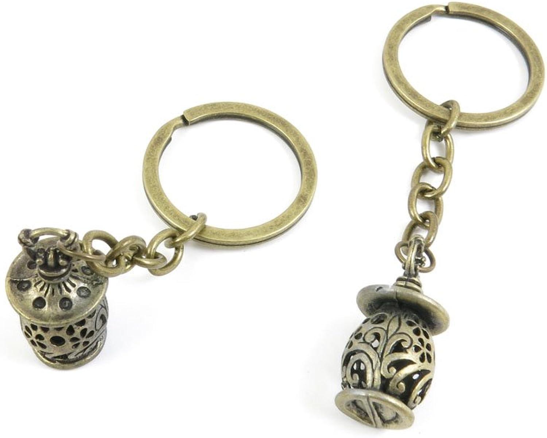 40 PCS Keyring Car Door Key Ring Tag Chain Keychain Wholesale Suppliers Charms Handmade P1SG6 Streetlight Lantern
