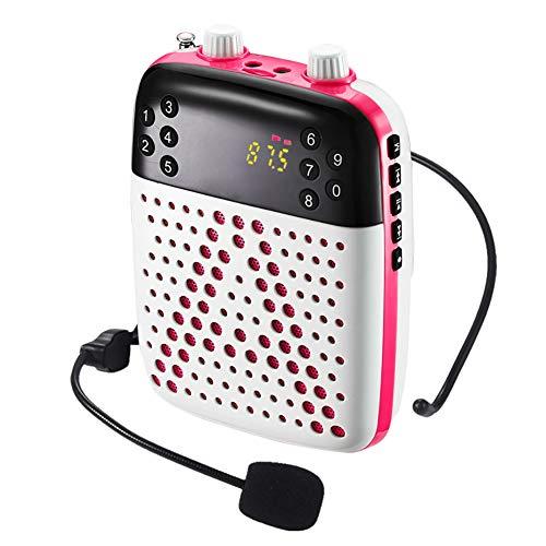 Sprachverstärker aufladbarer Wired Headset-Mikrofon, mit Aufnahme FM Radio MP3 TF-Kartenspiel für Lehrer Klassenzimmer, Coach Reiseleiter Ältere,d