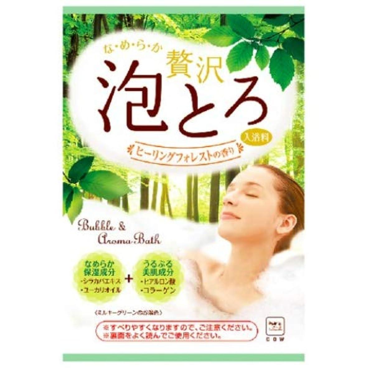 持続的信頼性のあるパッケージお湯物語 贅沢泡とろ入浴料 ヒーリングフォレストの香り 30g