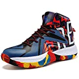 ASHION Littlte/Big/Youth Kids' Cool Basketball Shoe Sports Sneakers Athletic Trainers Gym Shoes Grade School King Dope/Colorful,3 Big Kid