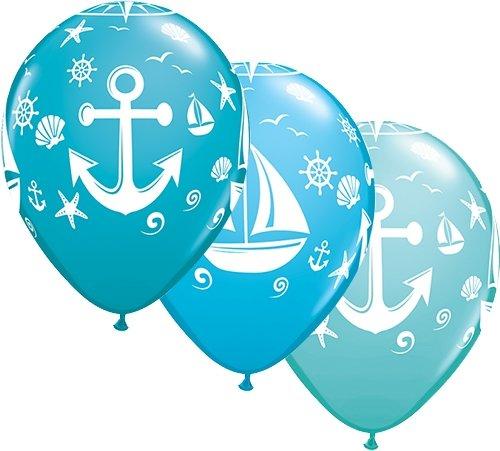 Qualatex Luftballons Maritim, ca. 30 cm, 5 St.