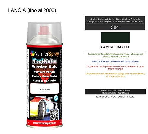 Vernice Ritocco 384 VERDE INGLESE per verniciatura carrozzeria in Bomboletta Spray 400 ml VerniciSpray