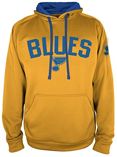NHL St. Louis Blues National Hockey League Hooded Pullover, X-Large, Yellow Gold