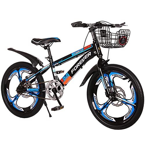 Axdwfd Bici per Bambini Bicicletta in Acciaio al Carbonio da 18-20 Pollici, Bicicletta Ad Assorbimento degli Ammortizzatori, Adatto per La Guida All'aperto per 7-14 Anni, con Camb(Size:18in,Color:C)