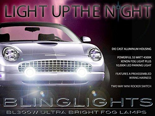 BlingLights Fog Lights Kit for 2002 2003 2004 2005 Ford Thunderbird