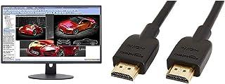 """$110 » Sceptre E248W-19203R 24"""" Ultra Thin 75Hz 1080p LED Monitor 2X HDMI VGA Build-in Speakers, Metallic Black 2018 & AmazonBasi..."""