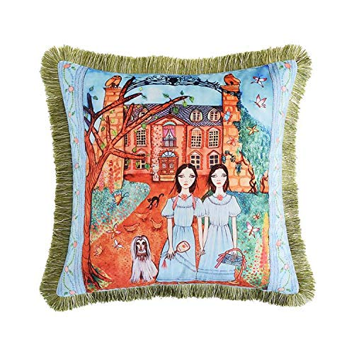 Venus*L Tassels Double-Sided Velvet Throw Pillow Covers,Horse,Saddle,Carriage,Knightship,Knight& Scepter,18x18 Inch(45x45cm)