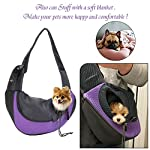 EVBEA Dog Carrier Sling Front Pack Puppy Carrier Purse Breathable Mesh Travel for Small or Medium Pet Dogs Cats Sling Bag 9