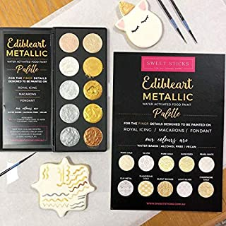 Yolli Edible Art Decorative Metallic Paint Water Activated Palette by Sweet Sticks