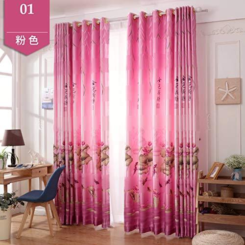 WBXZAL-Rideaux Nouveau Rideau de Tissu Fini Ton Rideau Chinois Simple Balcon Chambre Moderne fenêtre Flottante Salon fenêtre Flat fenêtre,300,B