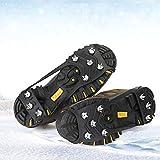 Eisklammern, Eis-Greifer, Traktions-Stollen für Schuhe und Stiefel, Gummi, Schneeschuh-Spikes, Steigeisen mit 8 Stahl-Stollen für Eis-Angeln, Wandern, Joggen, Schneeschaufeln, Jagd, Laufen