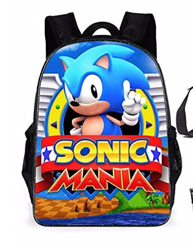 Sonic - Mochila escolar para bebé, para senderismo, camping, juegos, mochila para hombres, mujeres, escuelas, niños y jardines de infancia