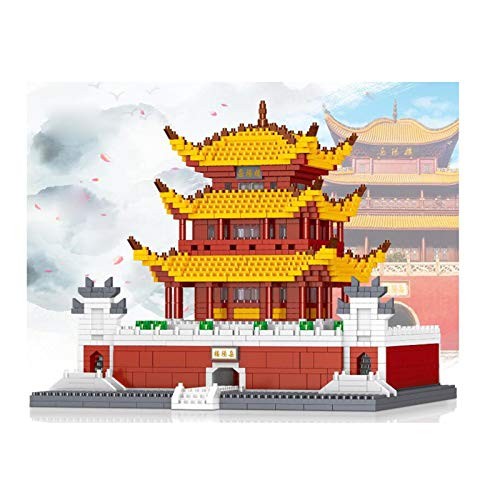 H-ei Micro-particle Building Blocks, Chinese Ancient Building Blocks Set, Children's Toys, Birthday Gifts (Yueyang Tower)