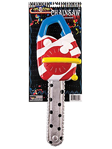 Forum Novelties Unisex-Adults Scary Clown Chainsaw, Multi Color, Standard