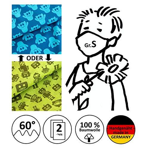 Mund- und Nasenmaske, Kindermaske, Behelfsmundschutz, Alltagsmaske, Community-Maske - Für KINDER Gr. S - handgenäht in Deutschland