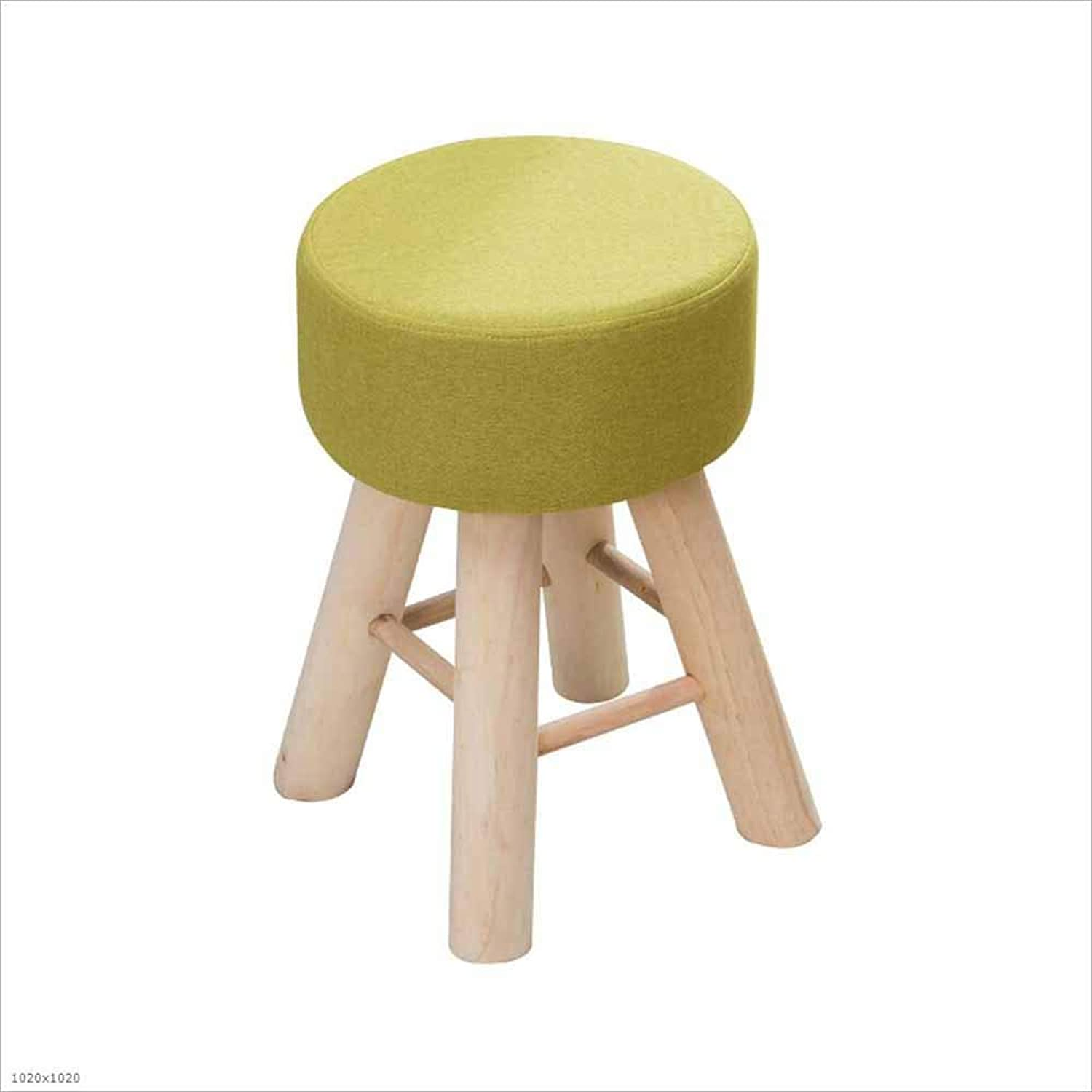 Solid Wood Stool Home High Elastic Cushion Fabric Makeup Stool Adult shoes Bench 43×28Cm, 2