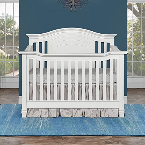Evolur Fairbanks 5-in-1 Convertible Crib, Winter White