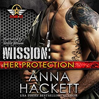 Mission: Her Protection     Team 52, Book 1              By:                                                                                                                                 Anna Hackett                               Narrated by:                                                                                                                                 Stella Bloom                      Length: 6 hrs and 5 mins     12 ratings     Overall 4.6