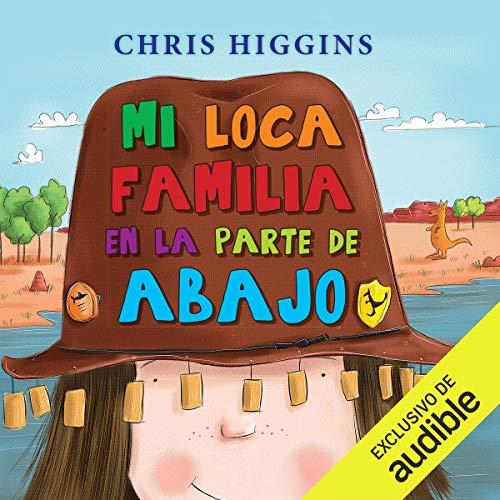 Diseño de la portada del título Mi loca familia en la parte de abajo
