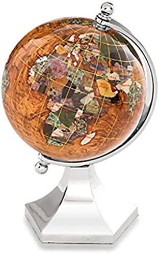 caliente KALIFANO 4 4 4 Gemstone Globe with Copper Amber Opalite Ocean with Bright plata Contempo Stand by Alexander Kalifano  deportes calientes