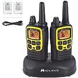 Midland X-TALKER 36 Channel FRS Two-Way Radio - Long Range Walkie Talkie, 121 Privacy Codes, & NOAA Weather Scan + Alert (Black/Yellow, 2-Pack)