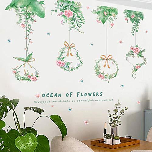 GVFTG Fris Art hangende slinger, wandsticker, woonkamer, achtergrond, wanddecoratie, zelfklevende huisdecoratie, 60 x 90 cm