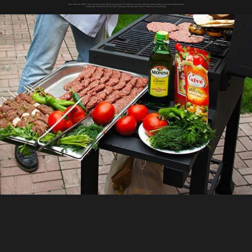51qc9qNx9JL - ChangDe - Weber Holzkohlegrills BBQ Grill - Verdicken Sie tragbare Grillhausgarten Holzkohle große kommerzielle rauchlose Grillauto im Freienvilla