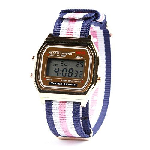 "Kim Johanson Herren Vintage Armbanduhr \""Havanna\"" Digital Uhr Quarz in Gold inkl. Schmuckbeutel"