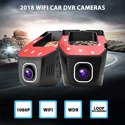 Zantec Registratore per Auto 1080P Mini WiFi Car DVR Due telecamere Dash Cam Video Recorder Telecamere per Auto DVR Controllo App Aggiornato Chip LT8724 Loop Video 1pc