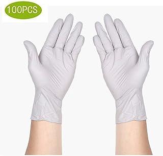 サニタリー手袋ニトリル医療グレード試験用手袋、使い捨て、ラテックスフリー、100カウント滅菌使い捨て安全手袋 (Size : L)